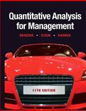 Quantitative Analysis for Management, Render, Barry E. and Stair, Ralph M., 0132149117