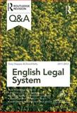 Q and A English Legal System 2011-2012, Slapper, Gary and Kelly, David, 0415599113