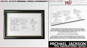 Bad - Original Lyric Lithography, Jackson, Michael, 0976889129
