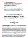 From Postulate-Based Modern Physics to Mechanism-Revealed Physics, Bingcheng Zhao, 1435749138