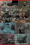 Rethinking English Homicide Law, , 019829915X