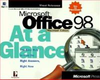 Microsoft Office 98 Macintosh Edition at a Glance, Perception Staff and Microsoft Press Staff, 157231916X