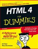 HTML 4 for Dummies, Ed Tittel and Mary Burmeister, 0764589172