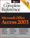 Microsoft Office Access 2003, Anderson, Virginia, 0072229179
