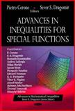 Advances in Inequalities for Special Functions, Dragomir, Sever Silvestru and Cerone, Pietro, 1600219195