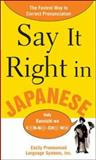 Say It Right in Japanese, Clyde Peters, 0071469206
