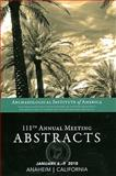 AIA 111th Annual Meeting Abstracts, Volume 33 9781931909211