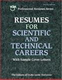 Resumes for Scientific and Technical Careers, VGM Editors, 0844229253