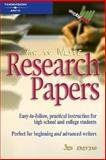 How to Write Research Papers, Sharon Sorenson and Peterson's, 0768909252