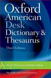Oxford American Desk Dictionary and Thesaurus, Oxford, 0199739277