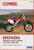 Honda CRF250R, CRF250X, CRF450R and CRF450X, 2002-2005, Penton Staff, 0892879289