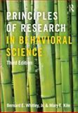 Principles of Research in Behavioral Science, Bernard E., Bernard E Whitley, Jr. and Mary E. Kite, 0415879280