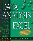 Data Analysis with Microsoft Excel : Windows '95 Edition, Carey, Patrick and Berk, Kenneth, 0534529291