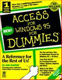 Access for Windows 95 for Dummies, Kaufeld, John, 156884929X