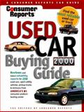 Consumer Reports Used Car Buying Guide 2000, Consumer Reports Books Editors, 0890439303