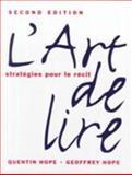 L' Art de Lire, Hope, Geoffrey R. and Hope, Quinten M., 0131839306