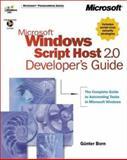 Microsoft Windows Script Host 2.0 Developer's Guide 9780735609310
