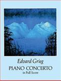 Piano Concerto in Full Score, Edvard Grieg, 0486279316