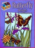 3-D Coloring Book - Butterfly Designs, Jessica Mazurkiewicz and Carol Schmidt, 0486489329