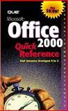 Microsoft Office 2000 Quick Reference, Warner, Nancy, 0789719320