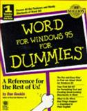 Word for Windows 95 for Dummies, Gookin, Dan, 156884932X