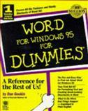 Word for Windows 95 for Dummies, Gookin, Dan, 156884932X