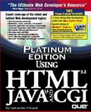 Platinum Edition Using HTML 3.2, Java 1.1, and GCI : 8 Contemporary Photographers, Ladd, Eric and O'Donnell, Jim, 0789709325