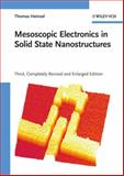 Mesoscopic Electronics in Solid State Nanostructures, Heinzel, Thomas, 3527409327