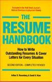 The Resume Handbook, Arthur D. Rosenberg and David V. Hizer, 155850933X