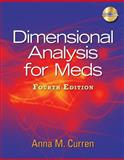Dimensional Analysis for Meds (Book Only), Curren, Anna M., 1111319367