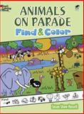 Animals on Parade Find and Color, Susan Shaw-Russell and Coloring Books Staff, 0486489388