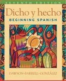 Dicho y Hecho : Beginning Spanish and Student Cassette, Dawson, Laila M., 0471589381
