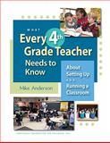 What Every 4th Grade Teacher Needs to Know about Setting up and Running a Classroom : About Setting up and Running a Classroom, Anderson, Mike, 1892989395