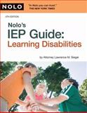 Nolo's IEP Guide, Lawrence M. Siegel and Lawrence Siegel, 1413309399