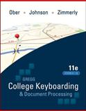 College Keyboading and Document Processing, Ober, Scot and Johnson, Jack E., 0077319400