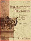 Introduction to Paralegalism : Perspectives, Problems, and Skills, Statsky, William P., 0766839419