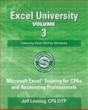 Excel University Volume 3 - Featuring Excel 2013 for Windows, Jeff Lenning, 1500399434