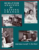 Behavior Analysis for Lasting Change, Sulzer-Azaroff, Beth and Mayer, G. Roy, 0030329442