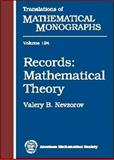Records : Mathematical Theory, Nevzorov, Valery B., 0821819453