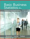 Basic Business Statistics, Berenson, Mark L. and Levine, David M., 0133869466