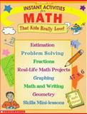 Instant Activities for Math, Scholastic, Inc. Staff, 0590399470