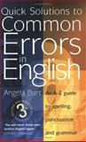 Quick Solutions to Common Errors in English, Angela Burt, 1857039475
