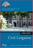 Civil Litigation 2006-07, Inns of Court School of Law, 0199289484
