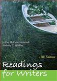 Readings for Writers (with 2009 MLA Update Card), McCuen-Metherell, Jo Ray and Winkler, Anthony C., 0495899496