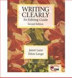 Writing Clearly : Grammar for Editing, Lange, Ellen and Lane, Janet, 0838409490