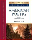 The Facts on File Companion to American Poetry, Kimmelman, Burt and Cone, Temple, 0816069506