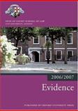 Evidence 2006-07, Inns of Court School of Law, 0199289522