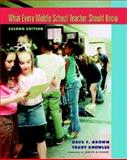 What Every Middle School Teacher Should Know, Second Edition, Dave F. Brown and Trudy Knowles, 0325009538