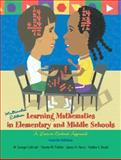 Learning Math in Elementary and Middle School and IMAP Package, Cathcart, George and Pothier, Yvonne M., 0131679546