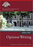 Opinion Writing 2006-07, Inns of Court School of Law, 0199289549